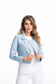 Woman jacket in white